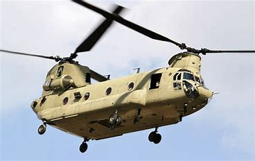 Chinook Helicopter in the sky